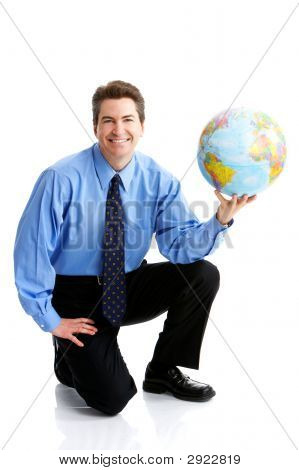 Businessman  With Globe