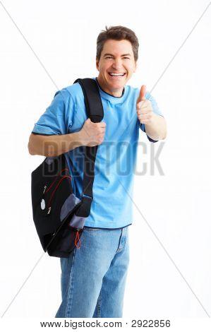 Smiling  Student Man