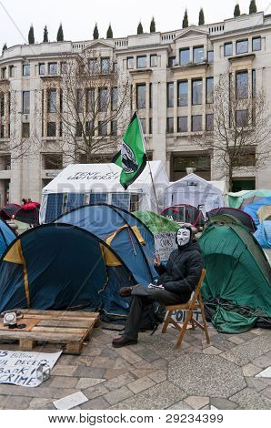 Tent City Outside Saint Pauls Cathedral, London, 2012