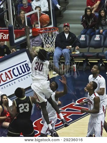 A Layup By Arizona Wildcat Angelo Chol