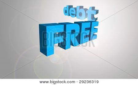 3D Text Concept Debt Free