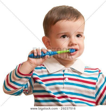 First Brushing Teeth