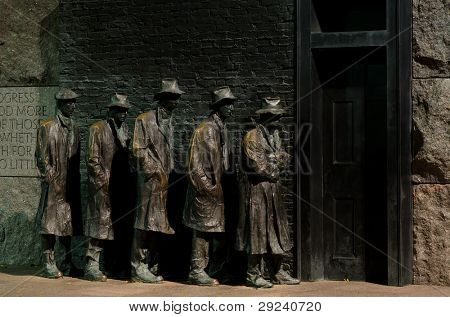 Breadline sculpture - Roosevelt Memorial in Washington DC
