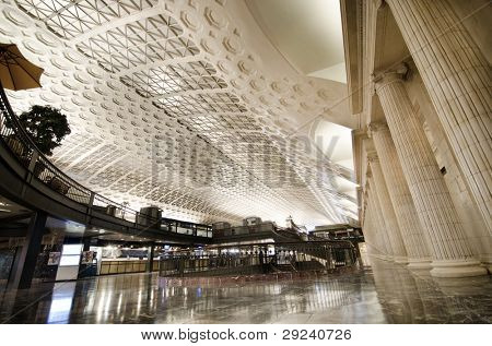 Union Station interior architecture, Washington DC United States