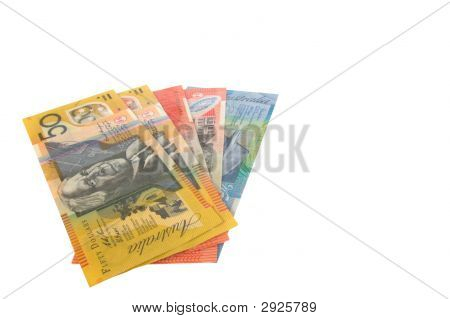 Australian Notes Isolated
