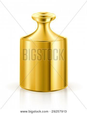 Gold weight, vector