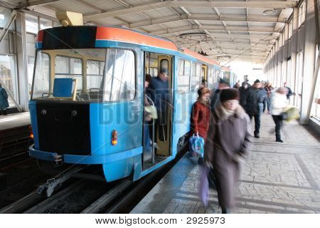 Station Of Rapid Tram In Volgograd