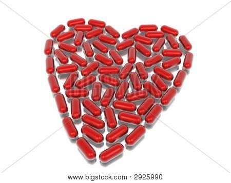Red Hearth Of Capsules