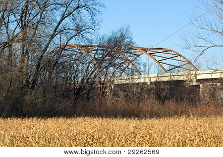 Highway 77 Bridge And Fen In Eagan Minnesota