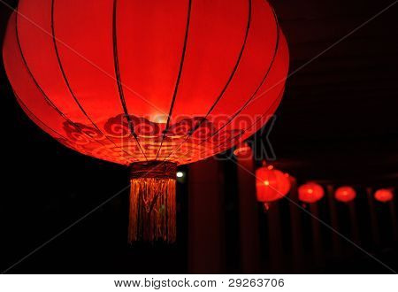 Chinese nylon red lantern