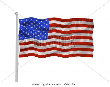 Flagge der Vereinigten Staaten 2