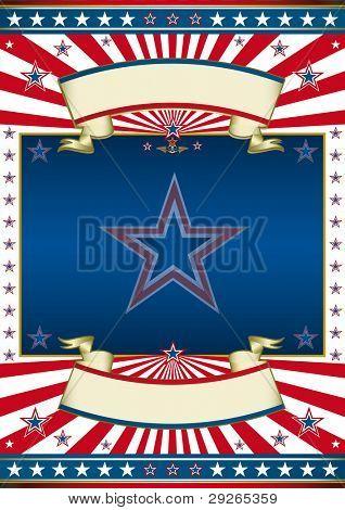 Quadro político americano. Um cartaz americano tradicional para você.