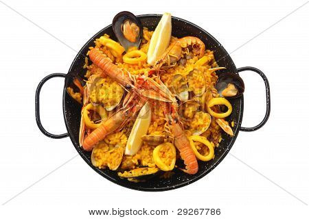 Isolated Paella