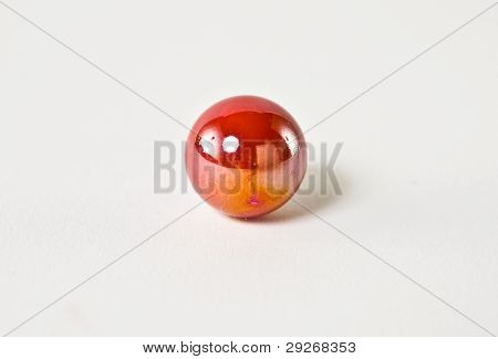 Red And Orange Glass glass Marble white background