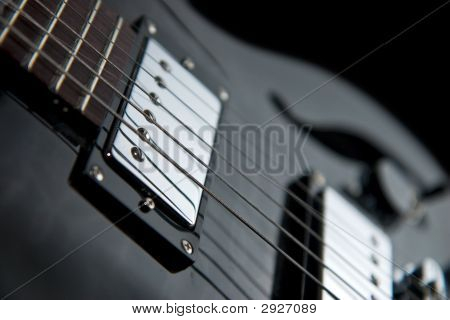 Close View Of A Jazz Guitar