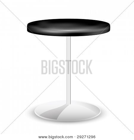 illustration of trendy stool on white background