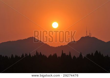 Sunset in Hangzhou, China
