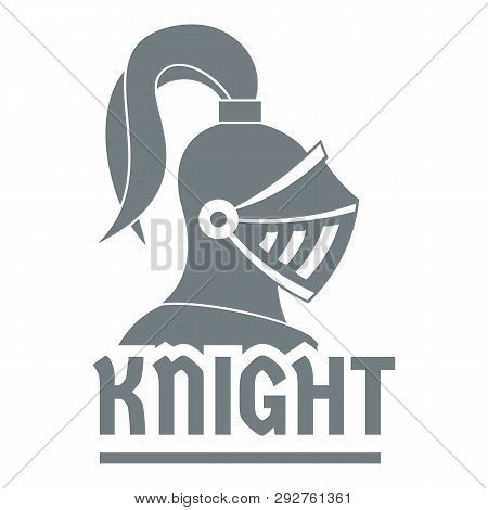 Knight Helmet Logo Simple Illustration