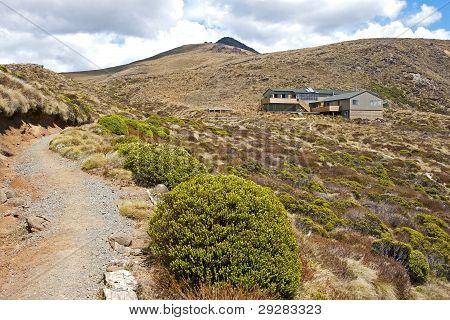 Views Of Hut In Kepler's Track In New Zealand