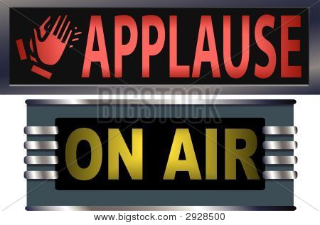 On Air Appluse Theater Broadcasting Signs.Eps