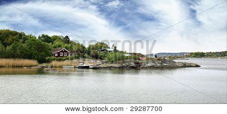 Typical small swedish fishing village