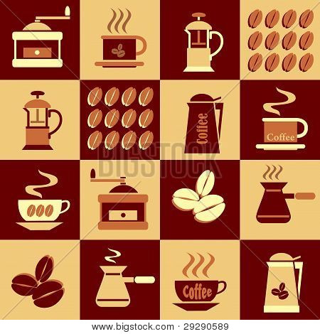 background with Icons coffee