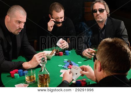 Group Of Poker Players