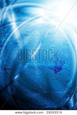 Blue vector design. Grunge style eps 10