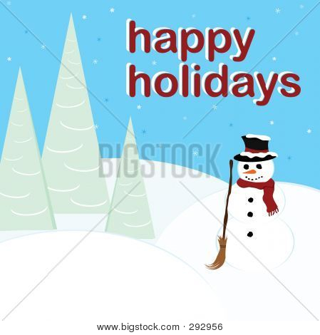 Happy Holidays - Snowman
