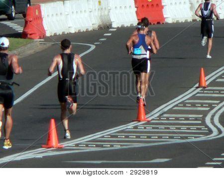 Corredores en triatlón