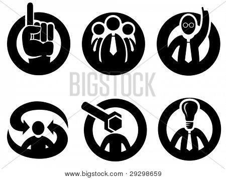 Expert opinion, decision or tip icon set