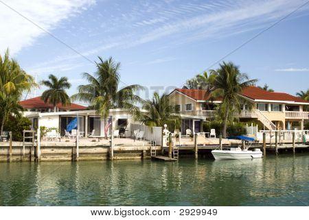 Florida Keys Canal Scene