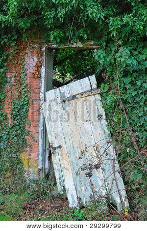 Leaning Old Door
