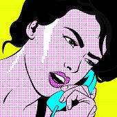 stock photo of pop art  - Pop art style image - JPG