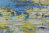 Old Painted Wooden Background. Colorful Wooden Texture. Cropped Shot Of Wooden Fence.  Wall Texture  poster