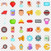Special Advertising Icons Set. Cartoon Style Of 36 Special Advertising Icons For Web For Any Design poster