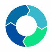Cycle Loop Diagram. Life Cycle. Four Arrows Diagram. Vector Stock. poster