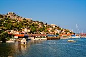 image of nea  - Turkish village Simena nea the Kekova island - JPG