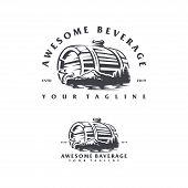 Beverage Mountain Logo Design Concept Illustration. Good For Beverage Industry. poster