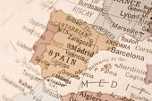 pic of algiers  - Detail shot of Spain on an English globe - JPG