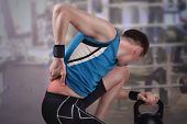 Back Injury In Sport. Low Back Pain During Weightlifting poster