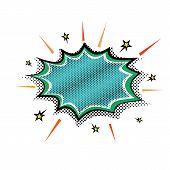Pop-art Steam Explosion Boom Speech Cloud Bubble. Vector Illustration Retro Comic Design Speech Bubb poster