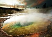 stock photo of steam sterilization  - Morning Glory Pool - JPG