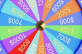 3d Illustration Colorful Wheel Of Luck Or Fortune. Roulette Fortune Spinning Wheels, Casino Wheel. W poster