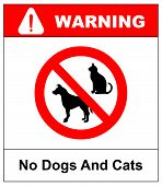 No Pets Allowed Sign. Round Red No Pets  Isolated Illustration poster