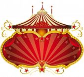 Magic red circus frame. A circus frame with a big top and a large copy space for your message.