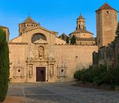 Old monastery of Poblet in Spain