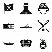 Rest In Army Icons Set. Simple Set Of 9 Rest In Army Icons For Web Isolated On White Background poster