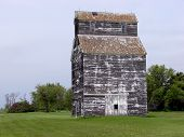 weathered grain elevator