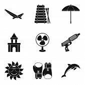 Cooling Icons Set. Simple Set Of 9 Cooling Icons For Web Isolated On White Background poster